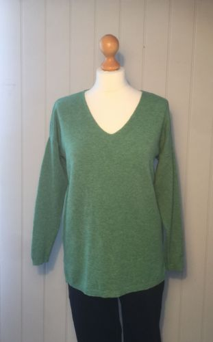 Patterned Back lightweight Jumper - Green